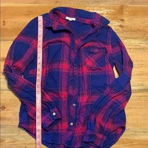 Xs pink & blue flannel